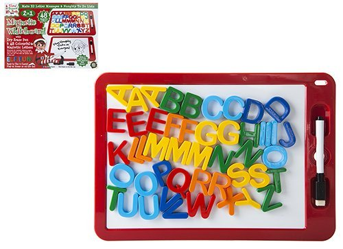 Elves Behavin' Badly Elfen die slecht gedrag – 2-in-1 magnetisch whiteboard met magnetische letters – maak brutale berichten
