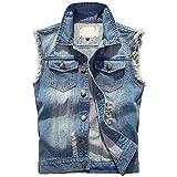 Herren Jeans Denim Weste Fashion Jeans Casual Herren Freizeit Weste