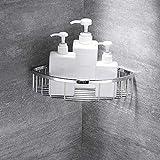 DAGUAI Cesta para ducha, estantes de esquina de baño, estante de ducha en esquina, cesta de ducha de acero inoxidable 304, acabados pulidos, 2 capas (color: 1 capa)