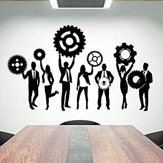 Office Wall Decals Teamwork Hard Work Vinyl Wall Stickers Office Creative Decoration Inspirational Inspiring Ideas Gear Mu...