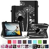 NAUC Tablet Schutzhülle für Medion Lifetab P8912 Hülle Tasche Standfunktion 360° Drehbar Cover Universal Hülle, Farben:Motiv 12