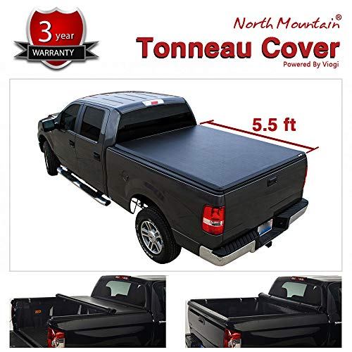 VIOJI 5.5ft Soft Lock & Roll-Up Tonneau Cover Truck Bed for 04-14 Ford F-150 & 2006-2014 Lincoln Mark LT (66in.-67.1in. Short Styleside Bed, Models Without Bed Rail & Factory Utility Track System)