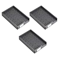 uxcell ESD帯電防止ネジプレート スクリュートレイ ネジ収納トレイホルダー 2.5-3mm直径ねじに適用 273穴 3個入り