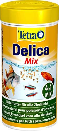 TetraDelica Natural Snack 4-in-1-Mix, Naturfutter-Mischung vier separaten Fächern für alle Zierfische, 250 ml Dose