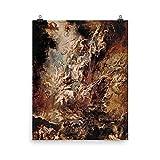 Retrograde Ink Peter Paul Rubens - The Fall of The Damned - Satanic Art Fallen Angel Painting, Macabre Decor, Hellish Satan, Lucifer, Devilish, Demonic Art
