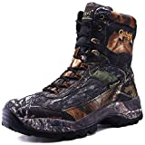 cungel Men's Hunting Boot 8-INCH Camouflage Timber Waterproof Hunter Shoes Forest Boots Jungle Anti-Slip Lightweight Breathable Durable Fishing Hiking Working Field Hunting(Black camo,11)