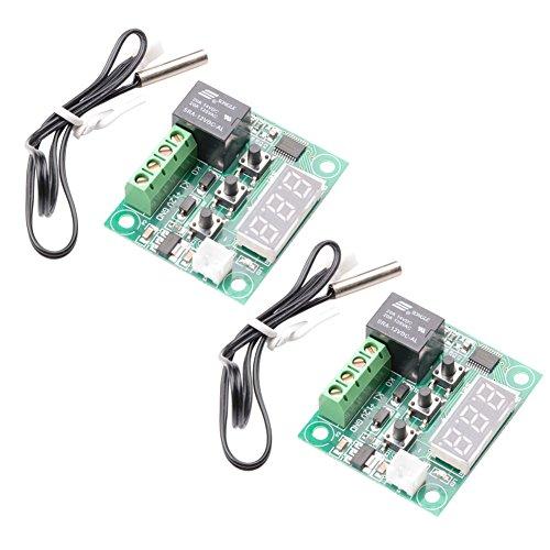 MUZOCT 2x DC 12V W1209 Módulo Sensor Interruptor De Control De Temperatura Del Termostato Digital Termómetro Controlador -50-110°C