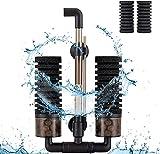 Hygger Filtros para Acuarios, Filtro Bioquímico Esponjas para Acuario con 4 Esponjas y 1 Bolsa de Bola de Cerámica Filtro Interno para Acuario de Agua Dulce y Mar por 38 a 151 litros (S)