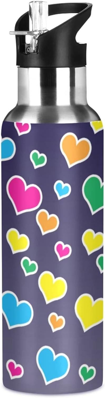 Direct sale of manufacturer Colorful Hearts Sport Our shop most popular Water Bottle BPA-Free Bott - Bike