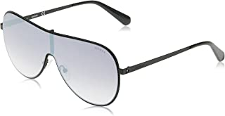 Guess Unisex Sunglasses GU520002C00 - Matte Black/Smoke Mirror Metal