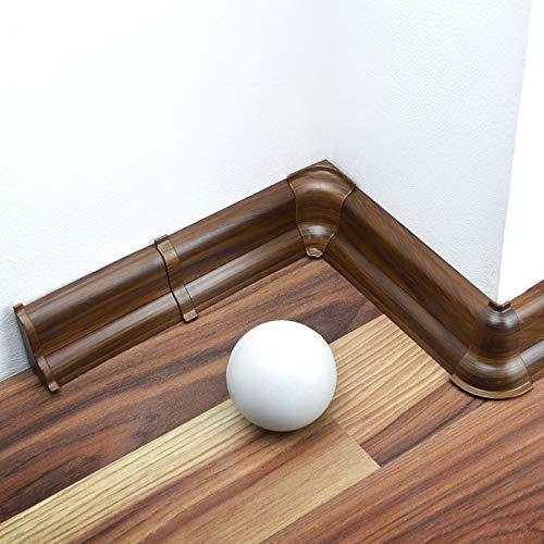 [DQ-PP] Innenecke 52mm PVC Nussbaum dunkel Laminatleisten Fussleisten aus Kunststoff PVC Laminat Dekore Fußleisten