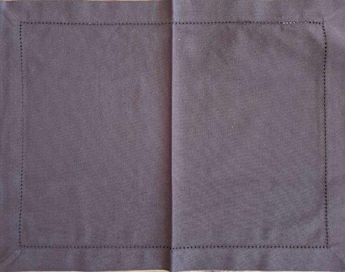 Scantex Tischset 6 Stück - Dinner - Farbe Mocca - 34cm x 45cm - 100% Baumwolle