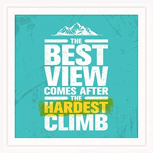 Gifts for Rock Climbers 7x7 Tile Artwork for Rock Climbing Fan Gift for Climber Perfect for product image