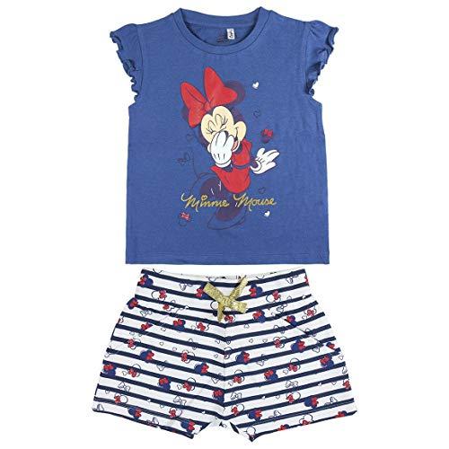 2 X Pantalones De Color Azul Y Blanco Minnie Mouse Disney Pantalones Cortos