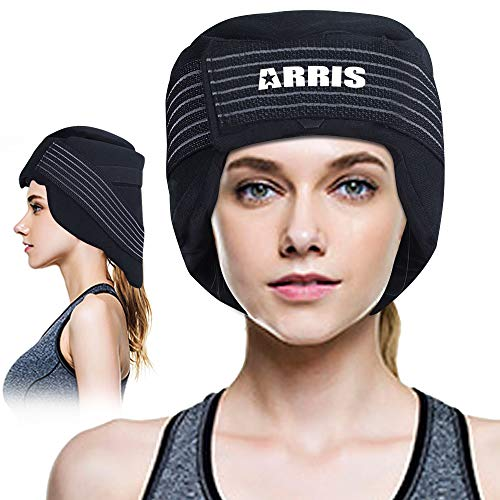 ARRIS Ice Cap for Migraine/Headache Pain Relief W/Gel Ice Pack for Migraine, Head and Neck Tension, Hot Cold Therapy Treatment Hat for Chemo, Sinus Relief, Fever, Menopause, etc.