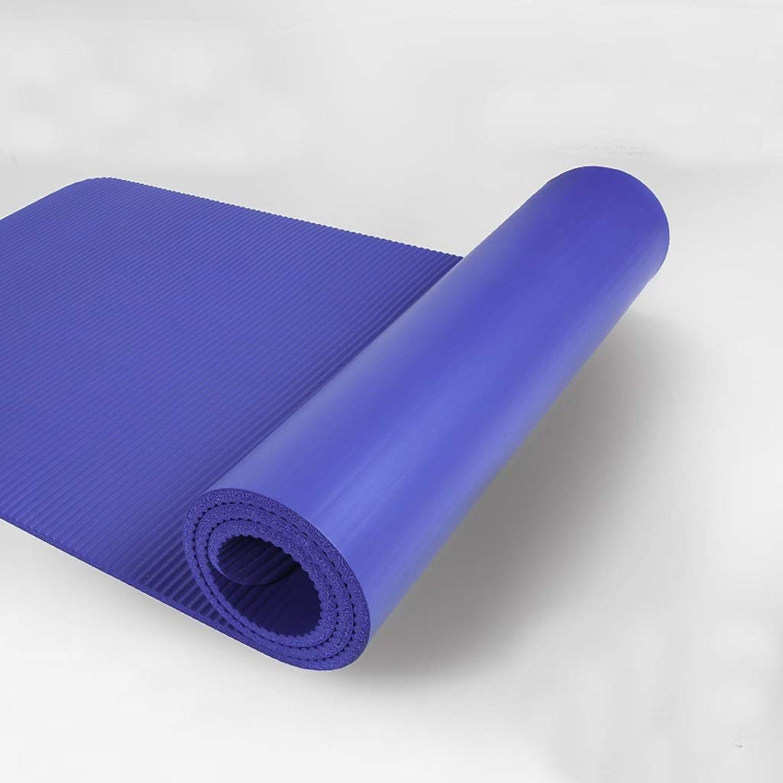ASJHK Yoga Mat Sports Blanket Yoga Mat Men and Women Beginners Thickening 10mm Widened Long Non-Slip Yoga Mat Fitness Mat Yoga mat (color   blueee)