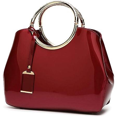 AINUOEY Bolsos Para Mujer Shoppers y Bolsos de Hombro Bolsos Bandolera Vestir Burdeos