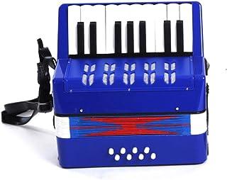 Vobajf Dzieci akordeon dziecięcy akordeon muzyczna zabawka dla dzieci powyżej 6 lat początkujących przyjazna dla środowisk...