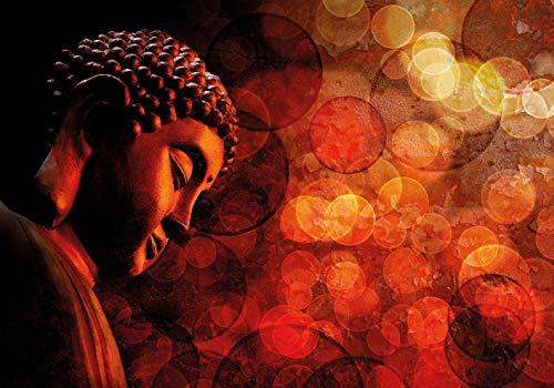 PICSonPAPER Hochwertiges Poster Buddha Zen Statue, 100 cm breit x 70 cm hoch, Dekoration, Kunstdruck, Wandbild, Fineartprint, Yoga, Meditation, Premium Qualität