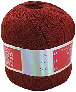 Celine lin One Skein Pure Cashmere Knitting Yarn,Wine Red