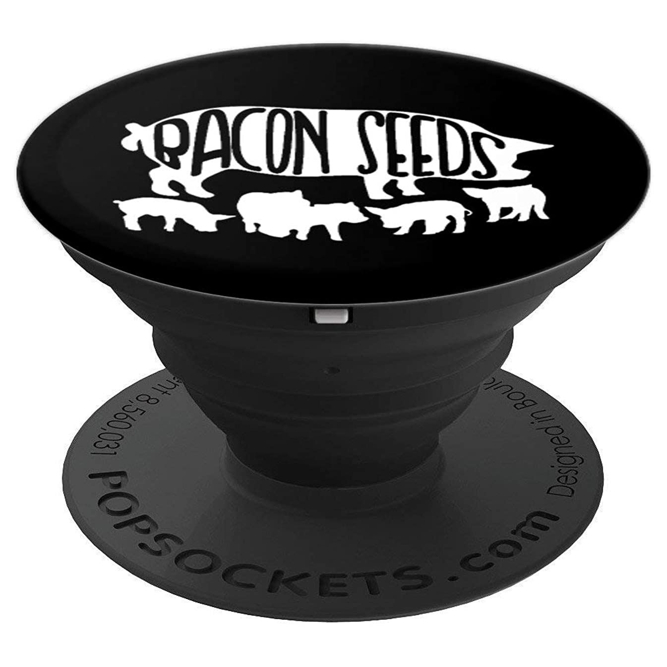 Bacon Seeds - Funny Bacon Lover Gift - PopSockets Grip and Stand for Phones and Tablets