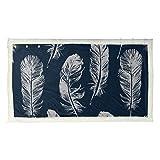 Dream Elegant Feather Bird Mens Shawl Wrap Chal Wrap Bufanda 53x30 pulgadas con 3 botones para sofá...