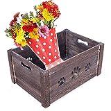 YLLN Juguetes para perros en forma de pata Caja de almacenamiento en el pecho Cajas de madera Cajas de regalo, Cajas de anidación rústicas Canasta de regalo de granja, Jardinera, Contenedor de almacen