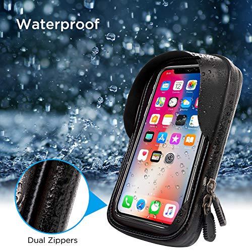 LEMEGO Wasserdicht Fahrradlenkertasche Handyhalterung Handyhalter Fahrrad Tasche Fahrradtasche Rahmentaschen für Handy GPS Navi und andere Edge bis zu 6 Zoll Geräte - 3