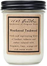 product image for 1803 Candles - 14 oz. Jar Soy Candles - (Weathered Teakwood)