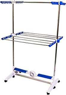 Mediashop NuBreeze - Tendedero portátil (2 estantes, 12 barras de aluminio, motor de 30 W, 1 colgador para perchas), NuBreeze