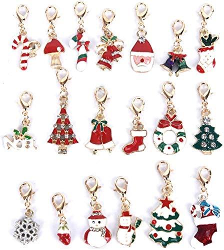 YXFYXF Llavero 19pcs llaveros decoración de Navidad (Color : -)