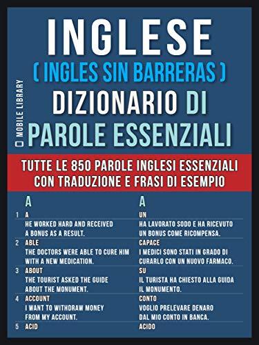 Amazon Com Inglese Ingles Sin Barreras Dizionario Di Parole
