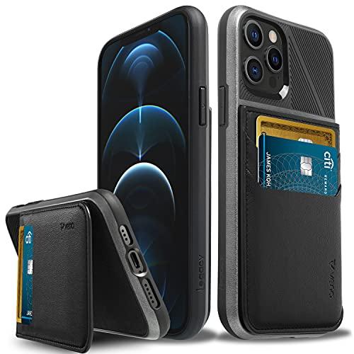 Vena Legacy Portafoglio Cover Custodia a RFID Blocking Compatible Con Apple iPhone 12   iPhone 12 Pro (6,1 -inch), (Magsafe Compatible, 2 Porta Carte) Custodia Case Protettiva Pelle con Kickstand
