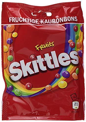 12 Beutel a 160g Skittles Fruits fruchtige Kaubonbons a 160g Kaudragees in knuspriger Zuckerhülle mit Fruchtgeschmack