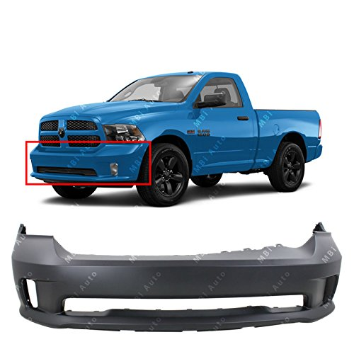 MBI AUTO - Primered, Front Bumper Cover Fascia for 2013 2014 2015 2016 2017 2018 RAM 1500 Sport Pickup 13-17, CH1000A10