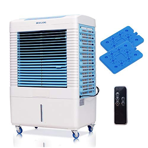DUOLANG 2647 CFM Indoor Outdoor Portable Evaporative Air Cooler Swamp Cooler- Remote Control & 3 Modes/Speeds with Fan & Humidifier for 322.9 sq. ft. - DL-4501