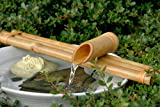 Bamboo Accents Water Fountain & Pump Kit – 18 inch, 3 Arm Style Split-Resistant All Natu...