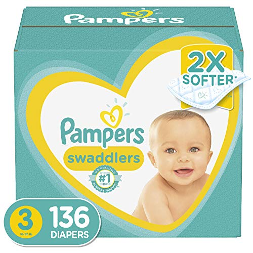 Diapers Size 3, 136 Count - Pampers Swaddlers Disposable Baby Diapers, Enormous Pack