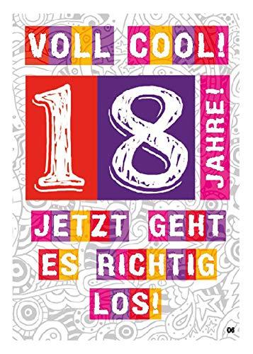 Depesche 4702.006 gratulationskort med överraskande effekt när den öppnas, 18-årsdag