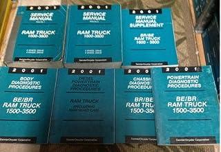 2001 DODGE RAM TRUCK 1500 2500 3500 Service Shop Repair Manual SET FACTORY 01 (2 VOLUME SET, service manual supplement, po...