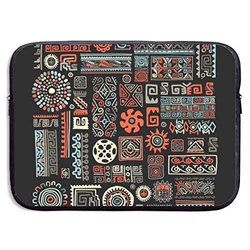 Ethnische handgemachte Ornament 13/15 Zoll für MacBook Air 13 15 ProPortable Zipper Laptop-Tasche Tablet-Tasche