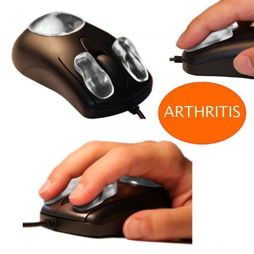 Ergonomic Gel Pads on Mouse - Carpal Tunnel Mouse Pads Padandclick - Arthritis - (Pads Only - Mouse Not Included)