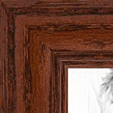 ArtToFrames 27x35 Inch Brown Picture Frame, This 1.25' Custom Wood Poster Frame is Walnut Stain on Solid Red Oak, for Your Art or Photos, 2WOM0066-59504-YWAL-27x35
