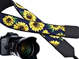 InTePro Camera Strap with Sunflowers Design - Yellow Flowers DSLR/SLR & Mirrorless Camera Neck & Shoulder Strap - Durable, Adjustable, Light Weight & Well Padded Camera Sling