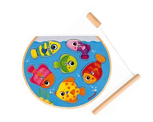 Janod- PUZLE/Juego DE Pesca Speedy Fish, Multicolor (J07088)