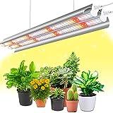 Pflanzenlampe LED, Wolezek Vollspektrum Grow Lampe, T5 2FT 96 LEDs Pflanzenlicht Doppelrohr mit Reflektor und Daisy-Chain Funktion, für Zimmerpflanzen, Gewächshaus, Grow Shelves