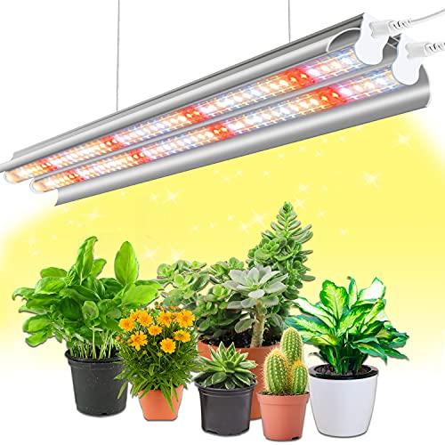 T5 Grow Light, Wolezek 96 LEDs 2ft Full Spectrum Plant Light, Double Tube...