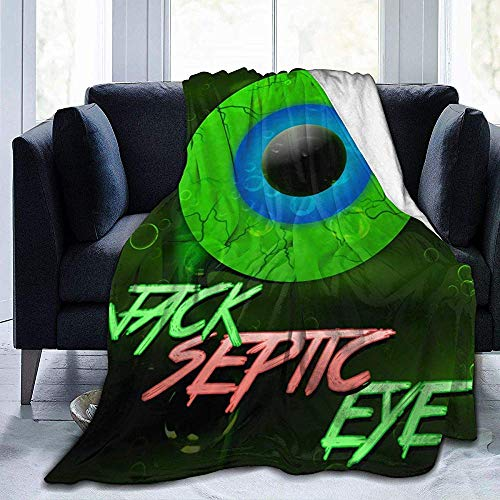 Not Applicable Throw Blanket Jack Septic Eye Ultra-Soft Fleece Blanket Couch Bed Throw Blanket Warm Adults All Season Kids 3 Size Teen Boy Girl 204X153cm