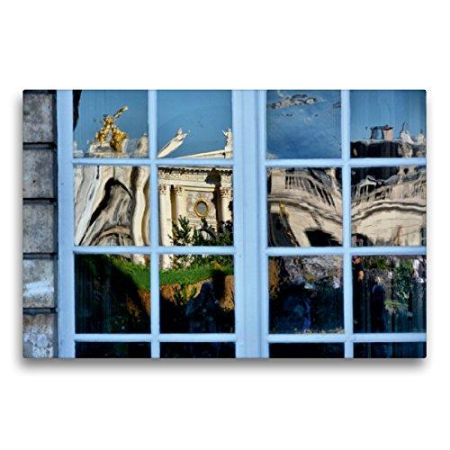 CALVENDO Premium Textil-Leinwand 75 x 50 cm Quer-Format Fenster von City Hall, Leinwanddruck von Thomas Bartruff