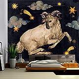 SINERT tapizTapiz del Zodiaco Bohemia Manta de Pared Aries león Acuario Hippie Alfombra hogar Dormitorio paño de Pared